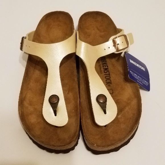 0911ea61d6ed New Birkenstock Gizeh Graceful Pearl White 40